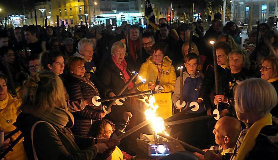 Perpignan. Rassemblement de la Diada de Catalunya, pour la libération des prisonniers politiques
