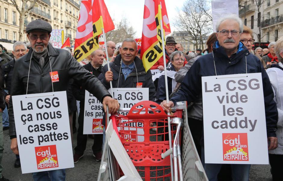 Manifestation unitaire des retraité.es