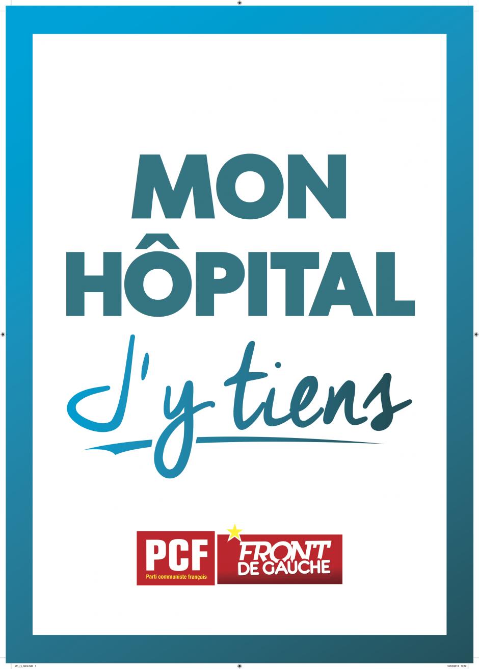 Tractage devant l'hôpital de Perpignan