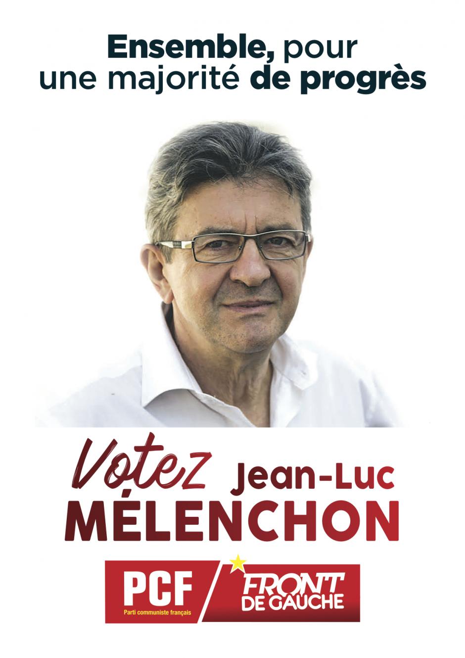 Les communistes appellent à voter JL. Mélenchon place de Catalogne à Perpignan