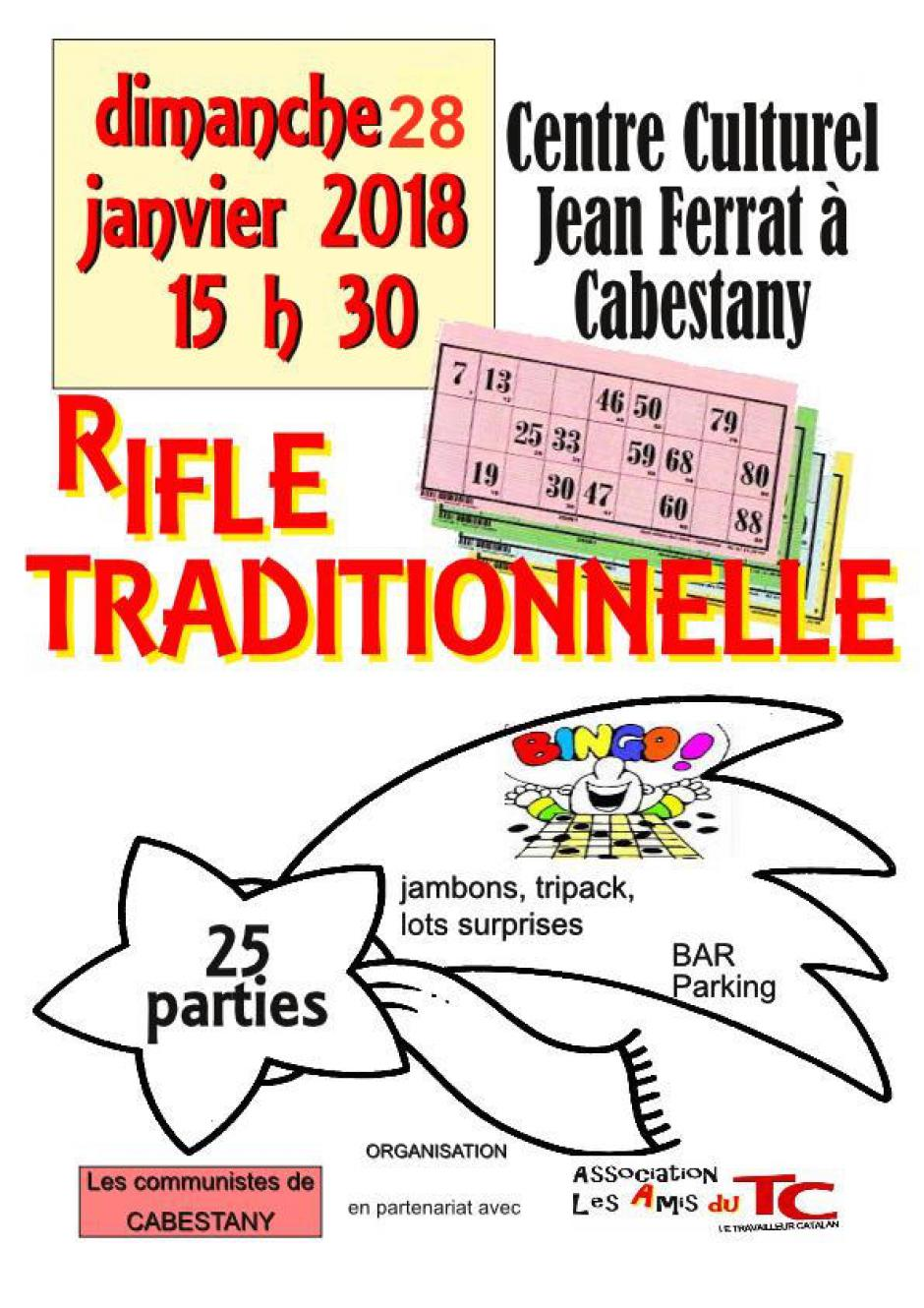Grande rifle traditionnelle du TC
