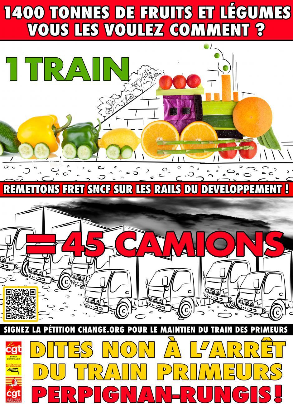 30 jours pour sauver le train des primeurs Perpignan-Rungis