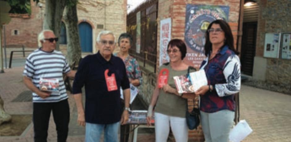 Point de vente du TC et de la vignette de la Fête du Travailleur Catalan
