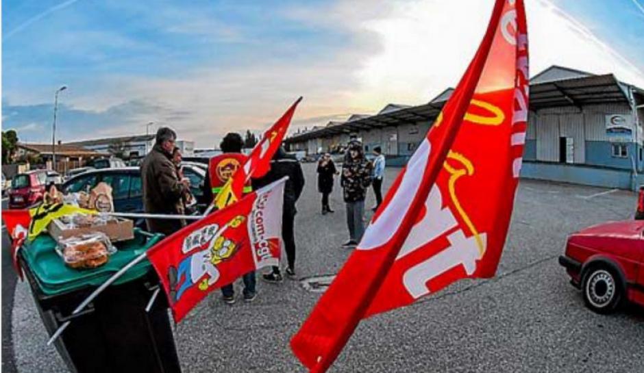 Perpignan. Salariés et CGT bloquent le dépôt d'un sous-traitant d'Amazon