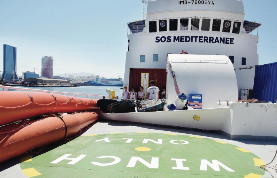 « L'Aquarius » à quai, avant de repartir sauver des vies