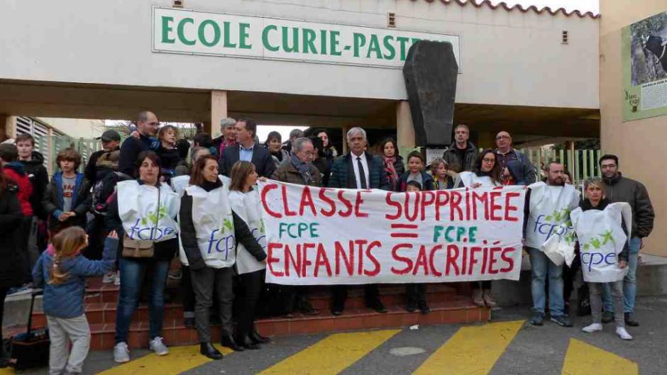 Argelès-sur-Mer.  Mobilisation contre la fermeture d'une classe à Curie-Pasteur