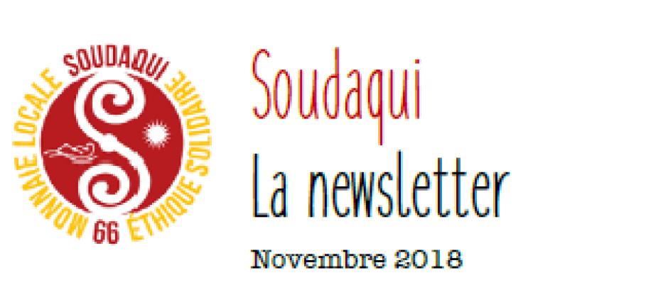Soudaqui. La newsletter de novembre 2018