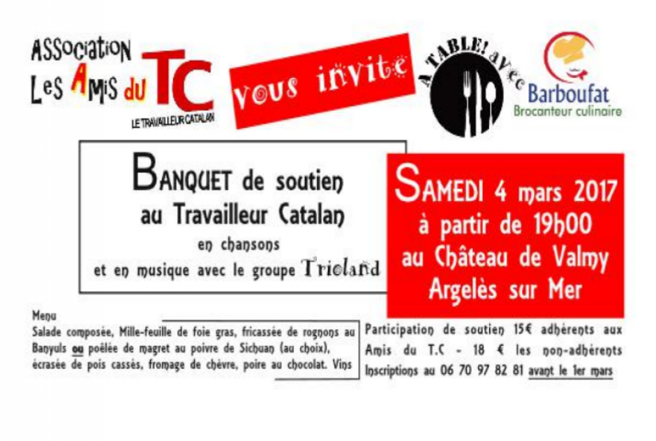 Banquet de soutien au Travailleur Catalan