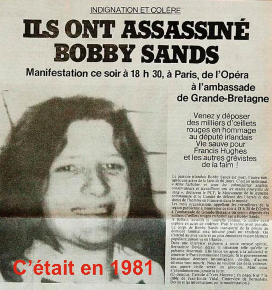 Il n'y avait pas eu de prisonniers politiques dans la « vieille europe » depuis au moins 35 ans !