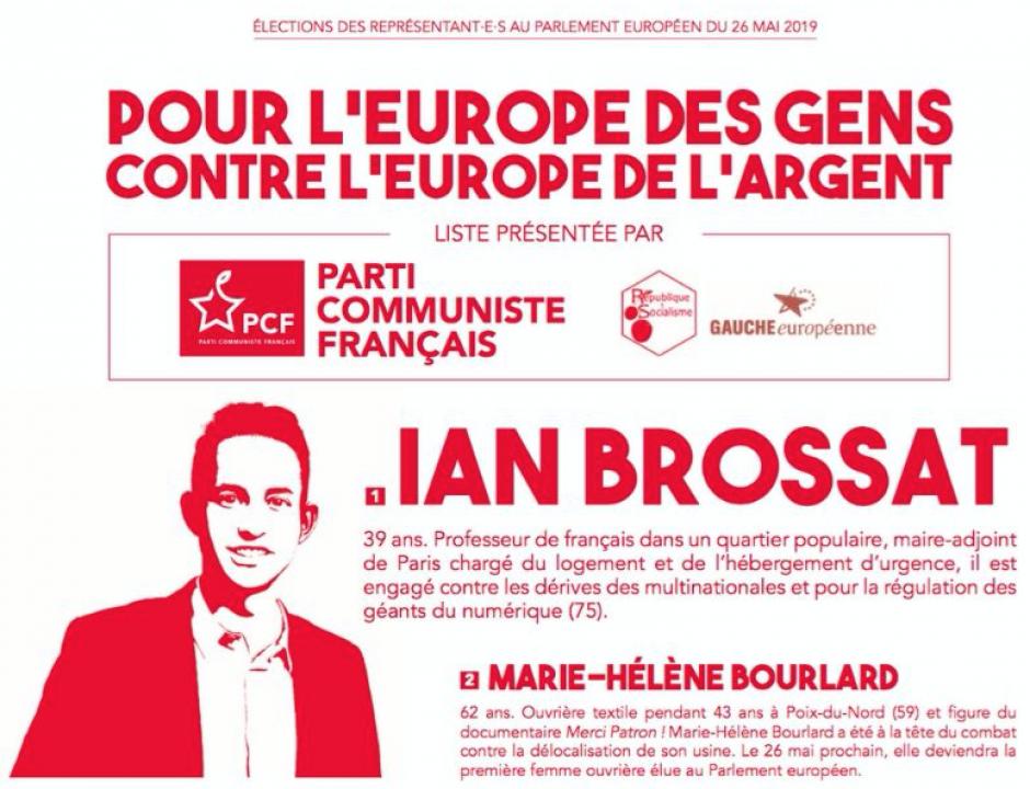 Européennes 2019. Dimanche, de multiples bonnes raisons de voter pour la liste Ian Brossat