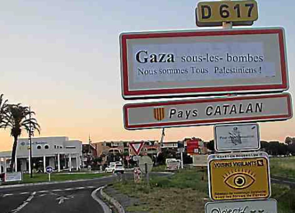 Canet-en-Roussillon. Action militante et éphémère pour dénoncer la situation à Gaza