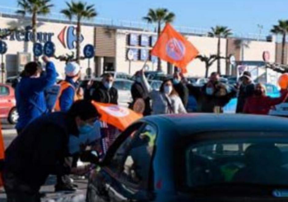 Des salariés de carrefour partout mobilisés samedi (L'Indep)