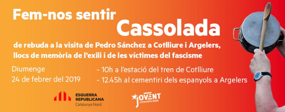 Communiqué de presse de l'ERC. Contre la visite de Sánchez, faisons-nous entendre
