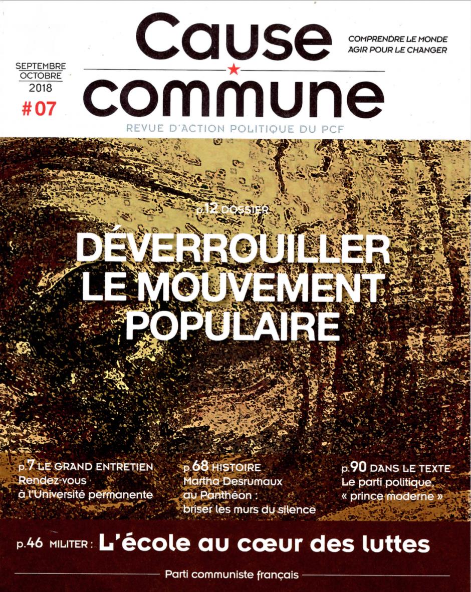 Cause commune n°7 (septembre-octobre 2018)