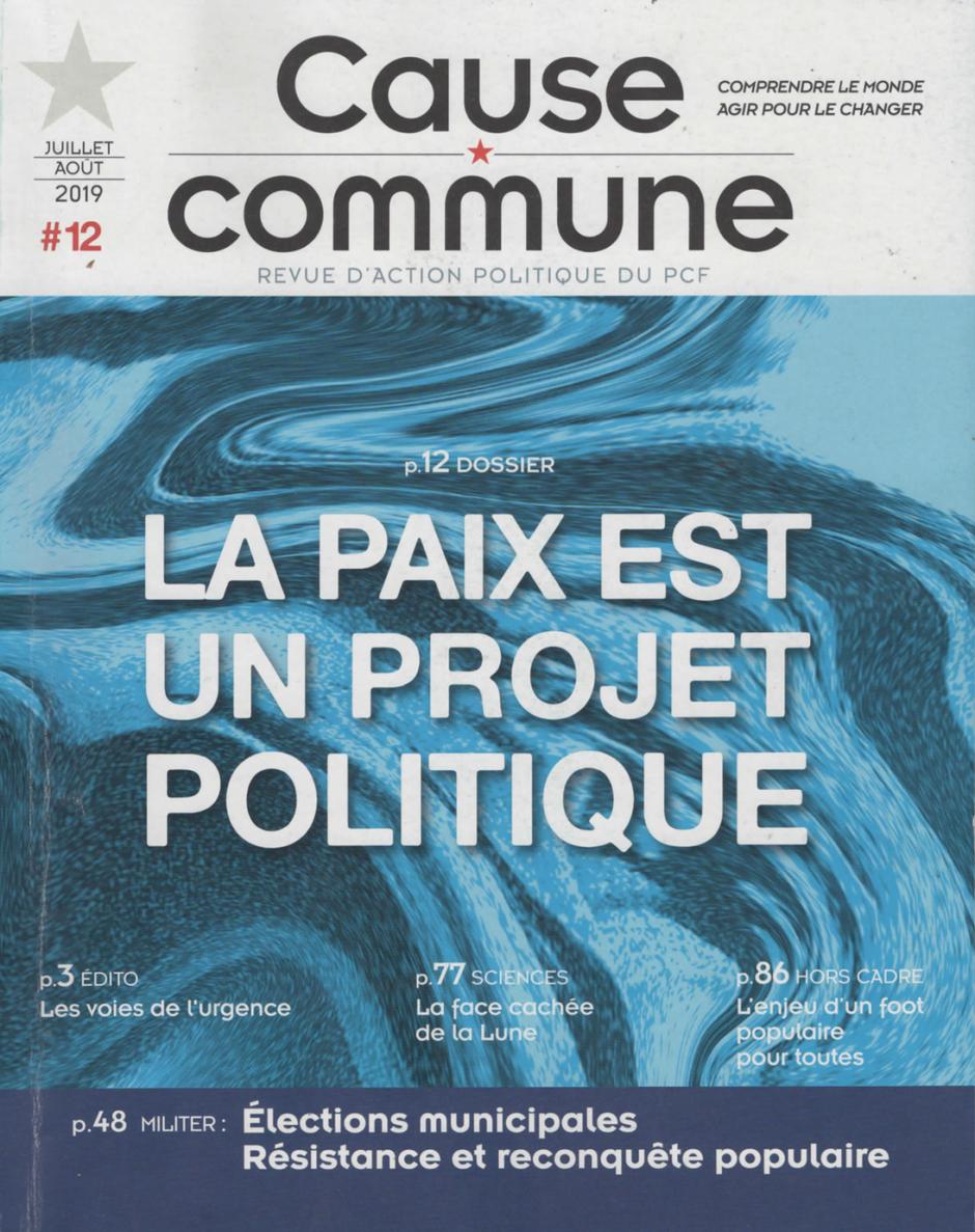 Cause commune n°12 (juillet-août 2019)