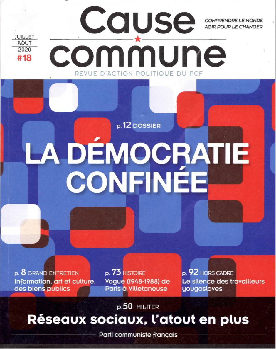 Cause commune n°18 (juillet-août 2020)