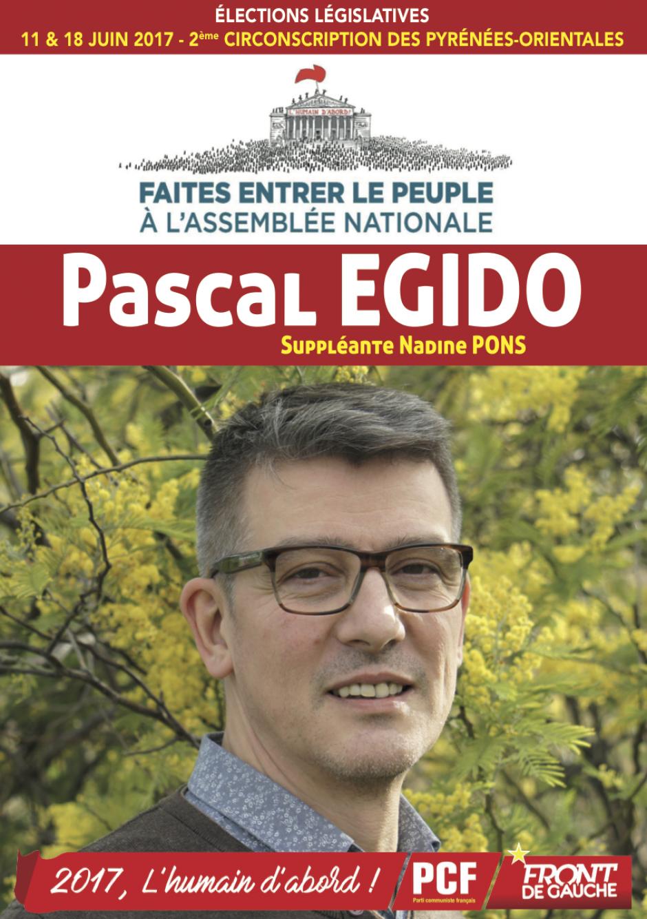 2ème circonscription des Pyrénées-Orientales. Pascal Egido que voterez-vous une fois élu ?