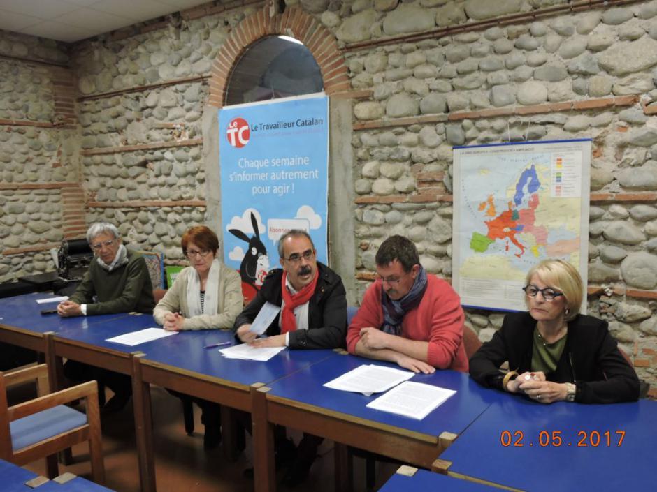 Conférence de presse du PCF66. 2ème tour de la présidentielle et 3ème tour les législatives !