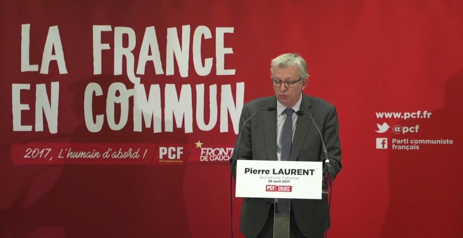 Conférence de presse de Pierre Laurent à l'issu du 1er tour de la Présidentielle