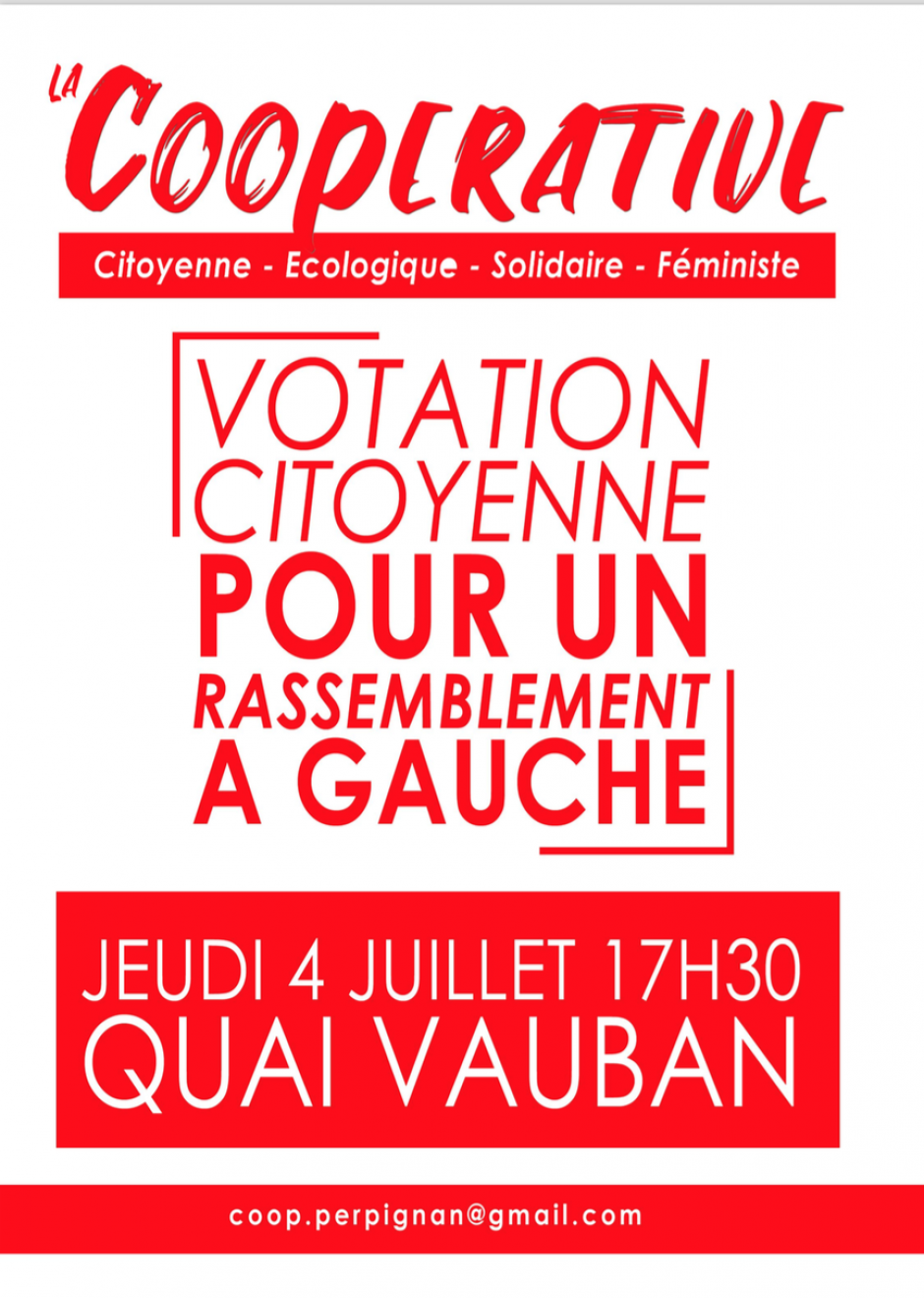 Votation citoyenne pour un rassemblement à gauche à Perpignan