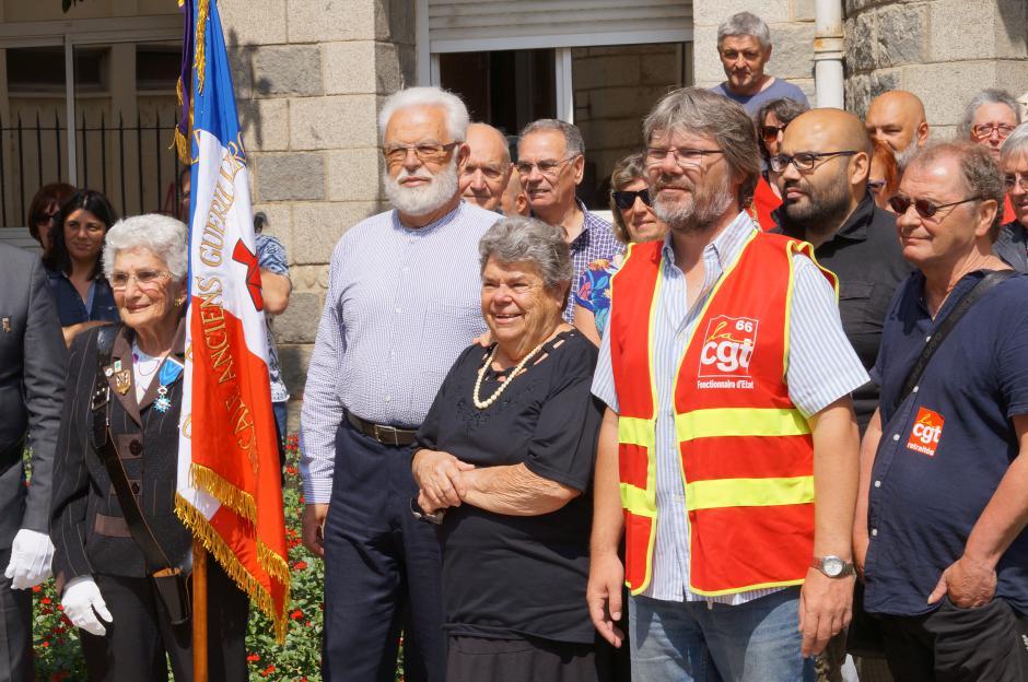Commémoration des martyres de la Résistance Louis Esparre et Gibert Brutus