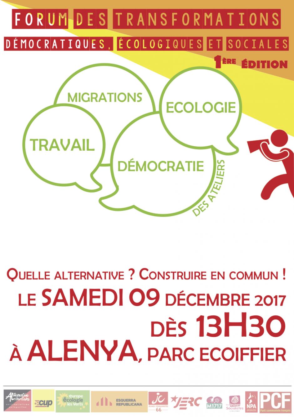 Forum Social de la gauche à Alenyà