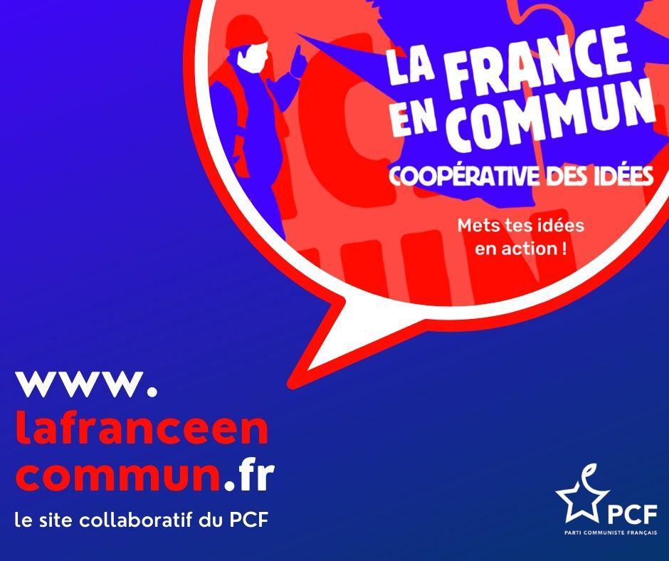 Lancement de la France en commun. Coopérative des idées (mets tes idées en action)