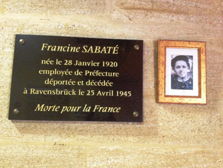 Hommage à Francine Sabaté, martyre de la Déportation