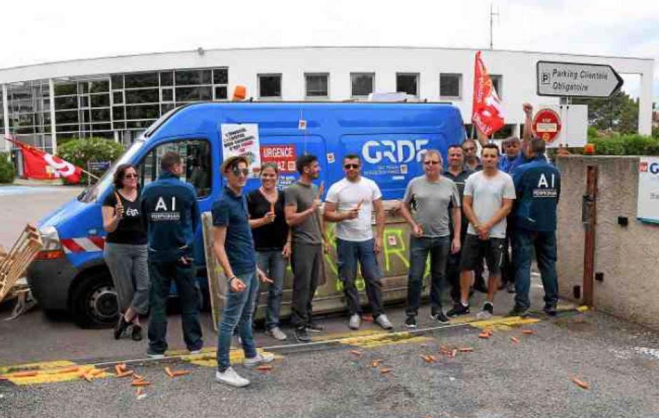 Solidarité avec les gaziers de GRDF