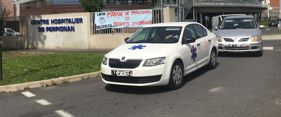 En grève, les urgences de Perpignan tournent avec un effectif minimum… « comme d'habitude »