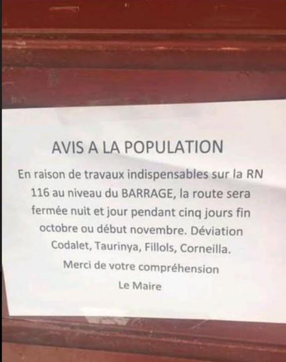 RN116 à Villefranche : trouver d'autres solutions que la fermeture
