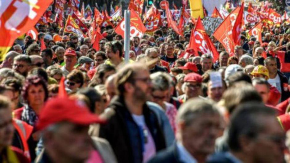 Journée de grève et de manifestation contre la politique de Macron