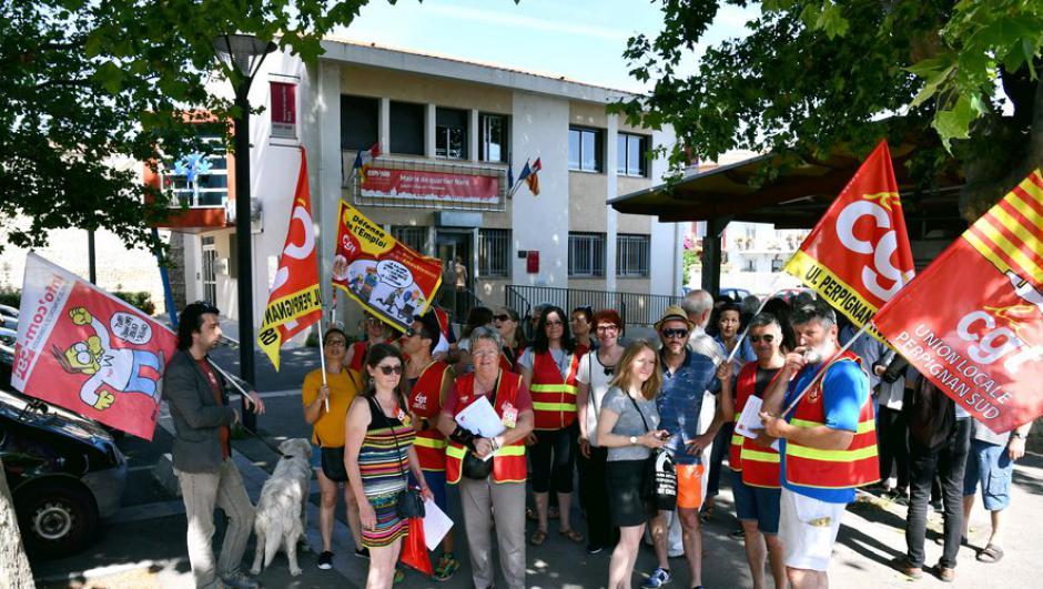 Perpignan. Action devant la CAF du Vernet contre sa fermeture