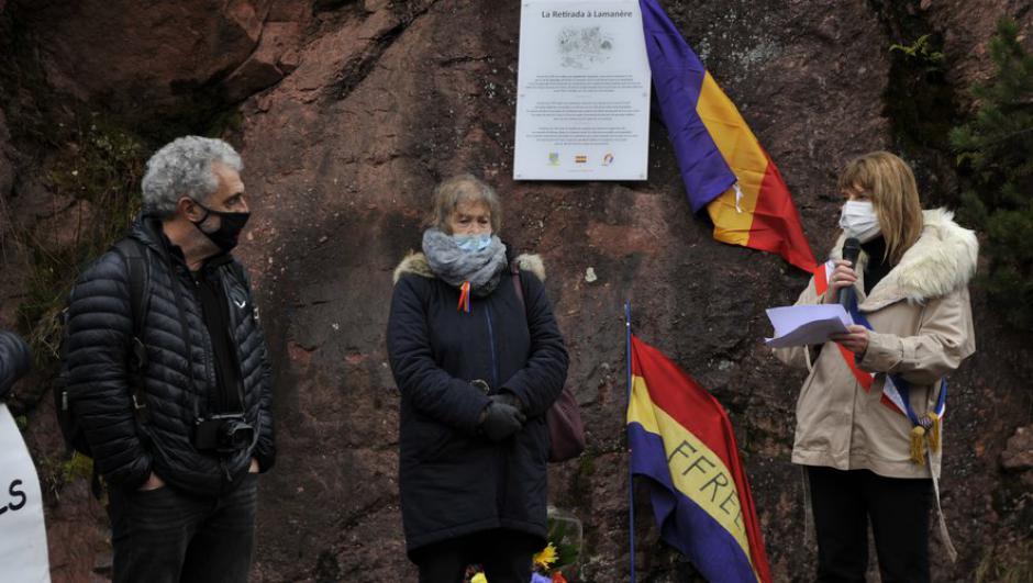 Commémoration de la Retirada de 1939 au pont Can Baruti à Lamanère (L'Indep)