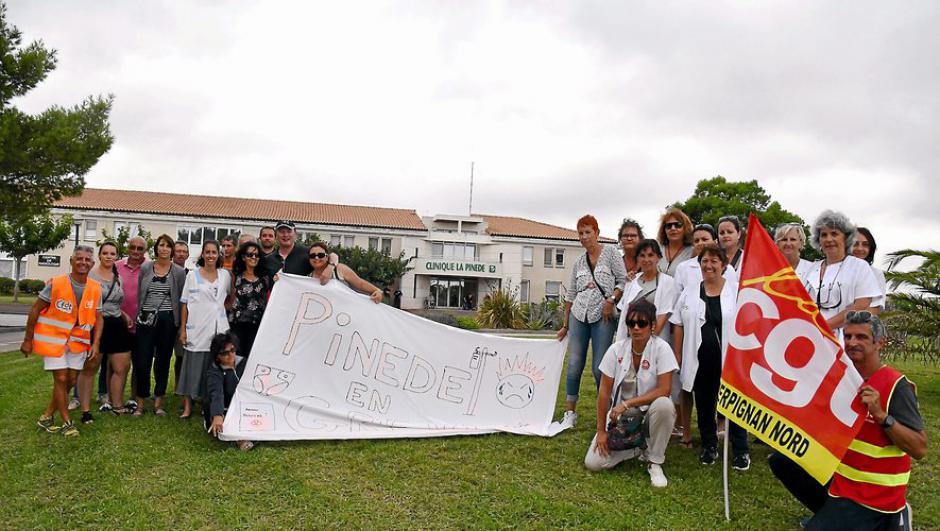 Les salariés de La Clinique La Pinède ont repris le travail la tête haute !