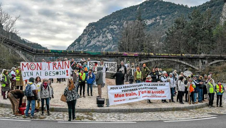 Réunion du Comité d'usagers de la ligne Perpignan-Villefranche