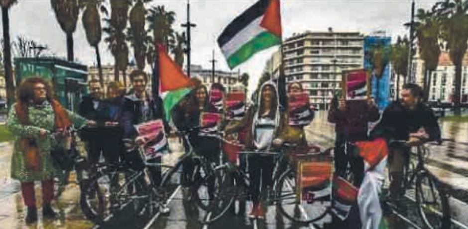 Perpignan. Manifestation contre le départ de la course du Giro à Jérusalem
