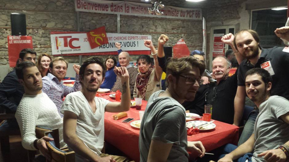 Les jeunes communistes partagent un couscous et un moment politique fort avec leurs ainés