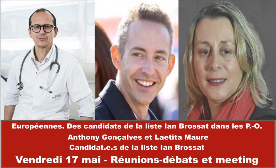 Européennes. Des candidats de la liste Ian Brossat dans les P.-O.