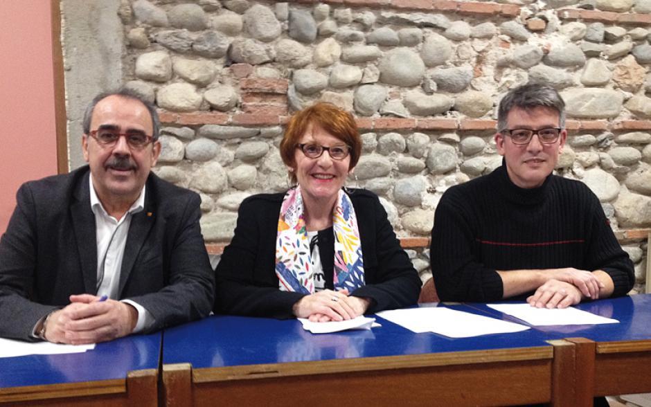 Conférence de presse de Nicolas Garcia. Les candidats du PCF 66 aux législatives