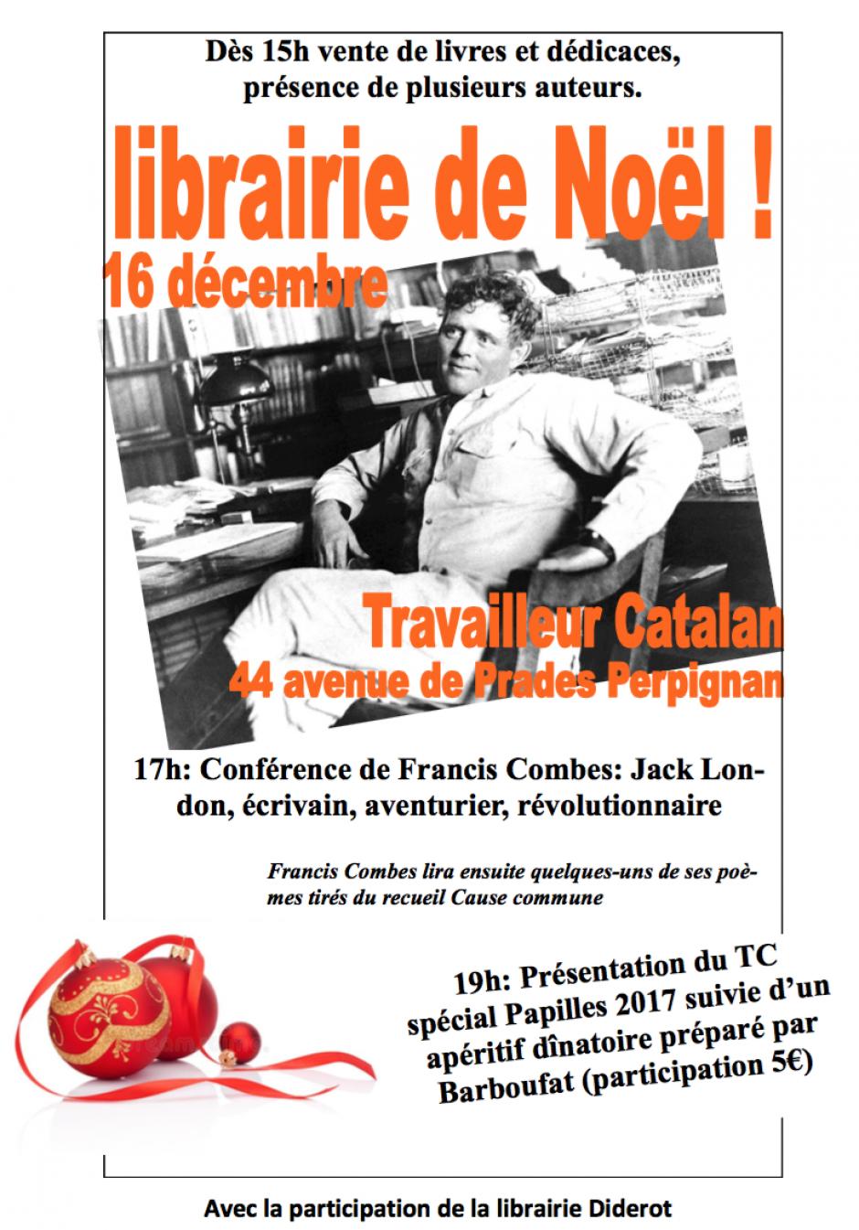 Librairie de Noël et présentation du Travailleur Catalan