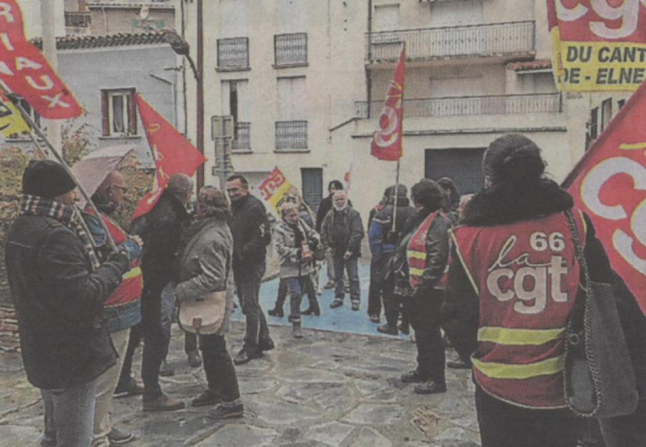 Latour-de-France. Hier matin la CGT a soutenu Élisa