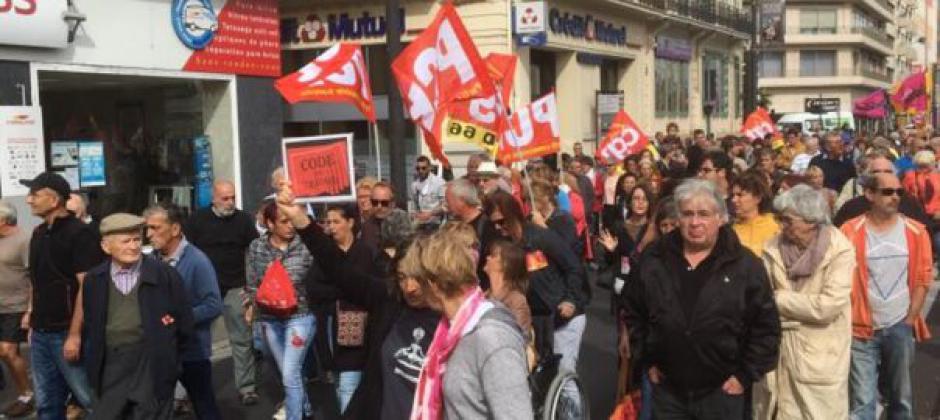 Manifestation contre le projet Macron après le succès du 12 on recommence