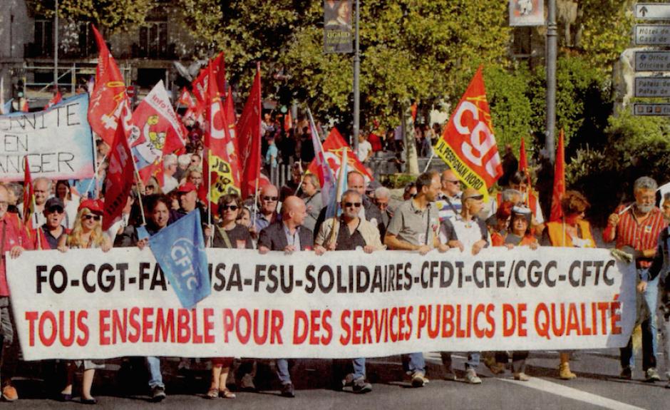 Les syndicats font front commun pour défendre les Services publics