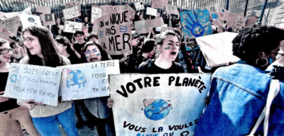 La jeunesse vent debout contre le dérèglement climatique