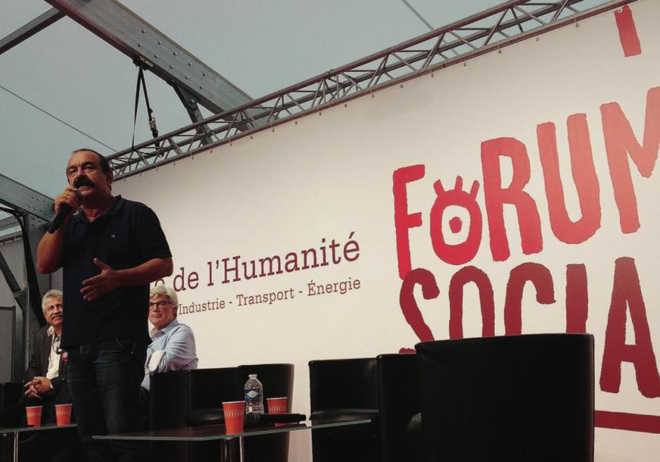 Avec Philippe Martinez la Fête de l'Huma devient sociale