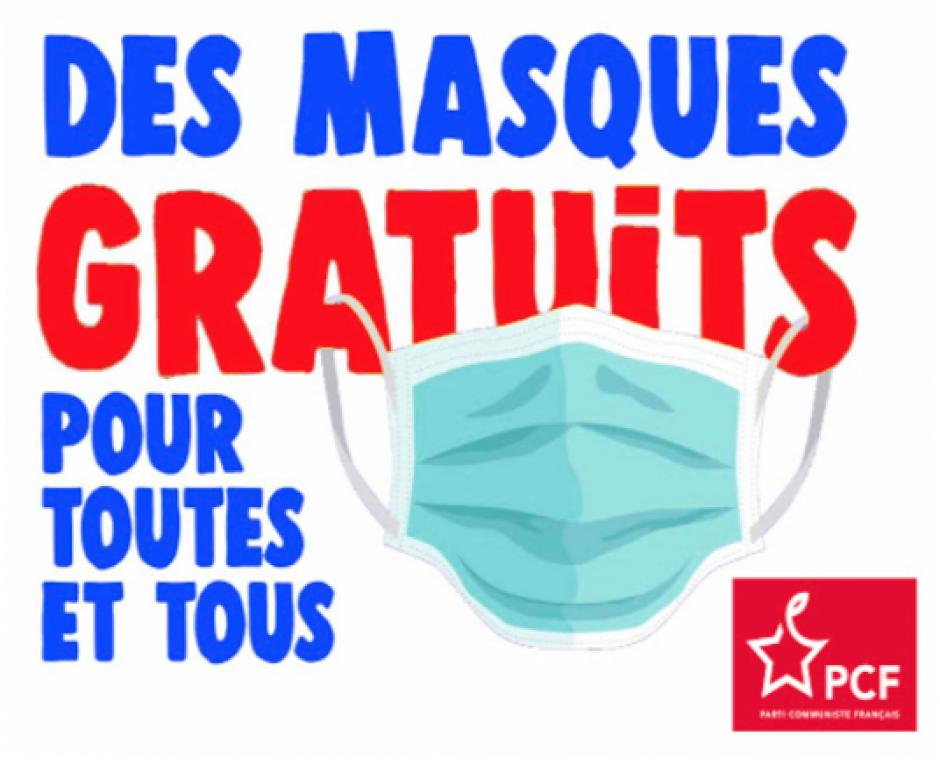 Campagne pour la gratuité des masques