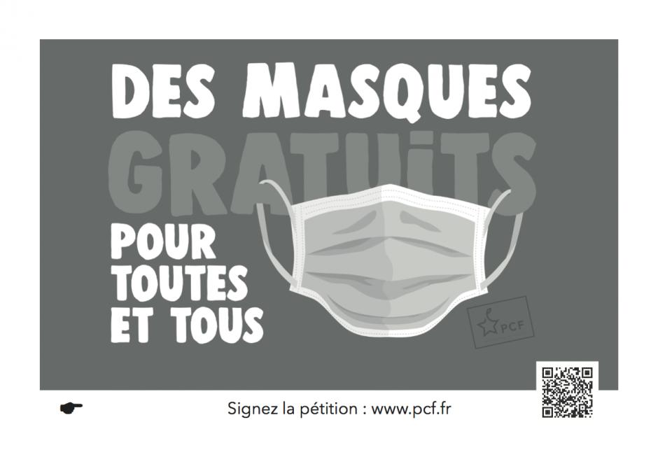 La pétition du PCF. Des masques gratuits pour tous