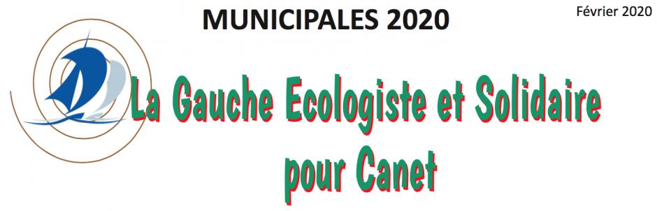 Municipales 2020. La gauche écologiste et solidaire pour Canet