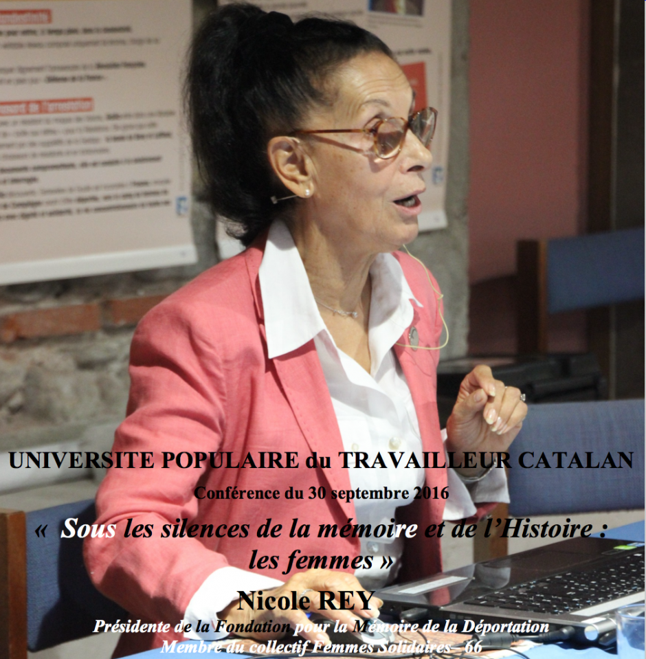 UPTC. « Sous les silences de la mémoire et de l'Histoire : les femmes »